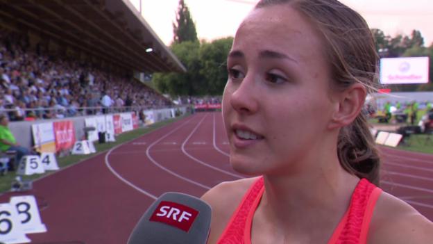 Video «Leichtathletik: Luzern, Interview mit Selina Büchel» abspielen