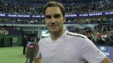 Video «Federer: «Schön, hier wieder mal zu gewinnen»» abspielen