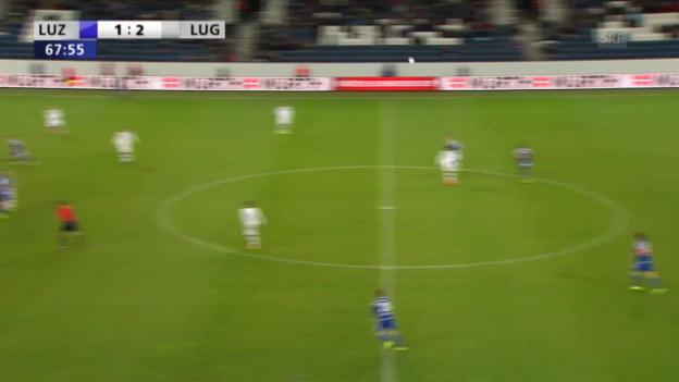 Video «Luganos Djuric sieht Gelb-Rot» abspielen