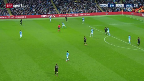 Video «Fussball: Champions League, ManCity-Juventus, Tor zum 1:1» abspielen