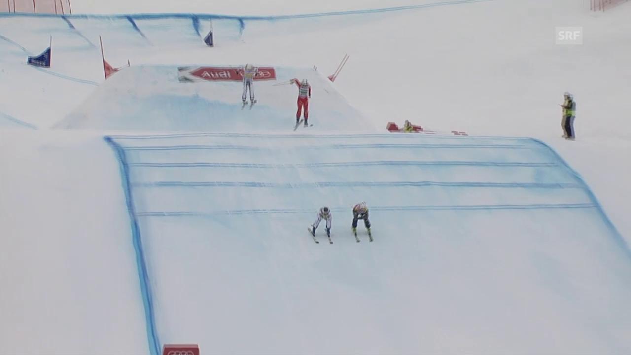 Skicross: Val Thorens, Verletzung Sanna Lüdi