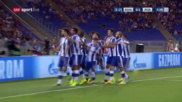 Video «Die Live-Highlights von Roma – Porto» abspielen