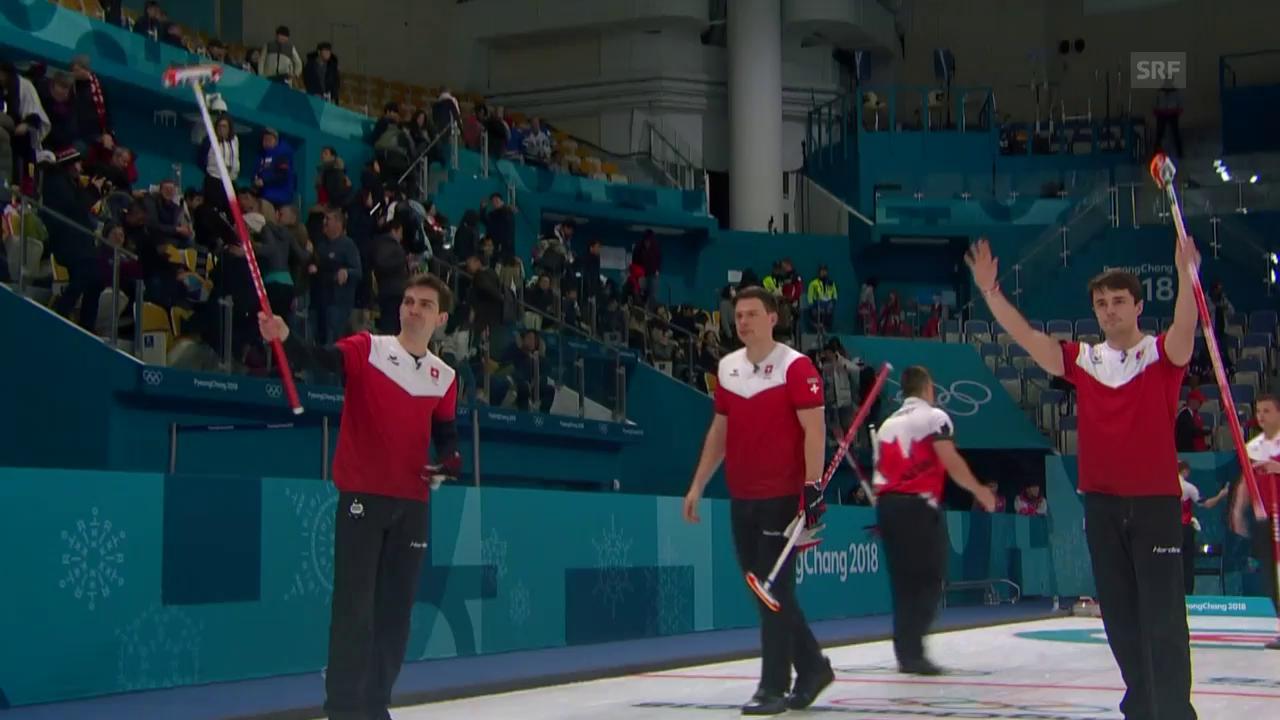 4. Sieg in Serie: Die Schweizer Curler schlagen Kanada