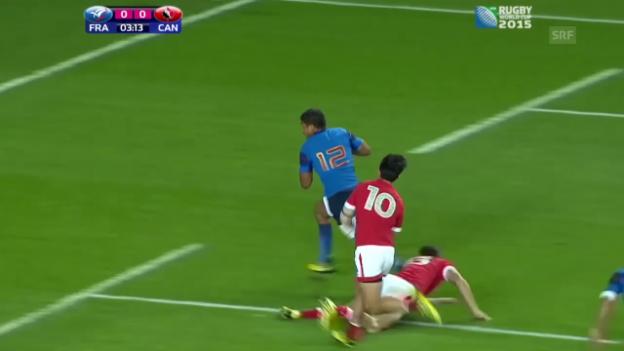 Video «Rugby: WM in England, Gruppe D, Frankreich - Kanada» abspielen