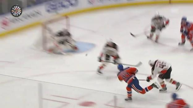 Video «Drehung, Schuss, Tor: McDavid beeindruckt Gretzky» abspielen
