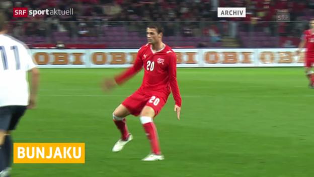 Video «Fussball: Albert Bunjaku zu St. Gallen («sportaktuell»)» abspielen