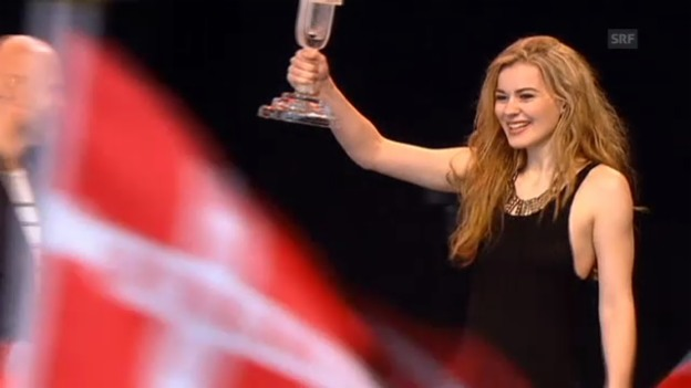 Video «Eurovision-Siegerin Emmilie de Forest wird in Kopenhagen bejubelt» abspielen