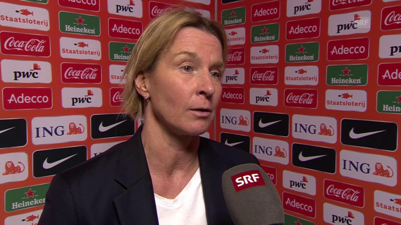 Martina Voss-Tecklenburg nach der Niederlage gegen die Niederlande
