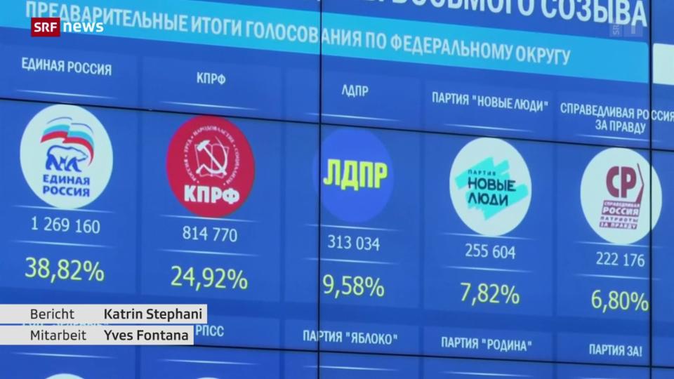 Einiges Russland feiert bereits Wahlsieg