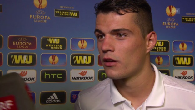 Video «Fussball: Europa League. Interview mit Granit Xhaka» abspielen