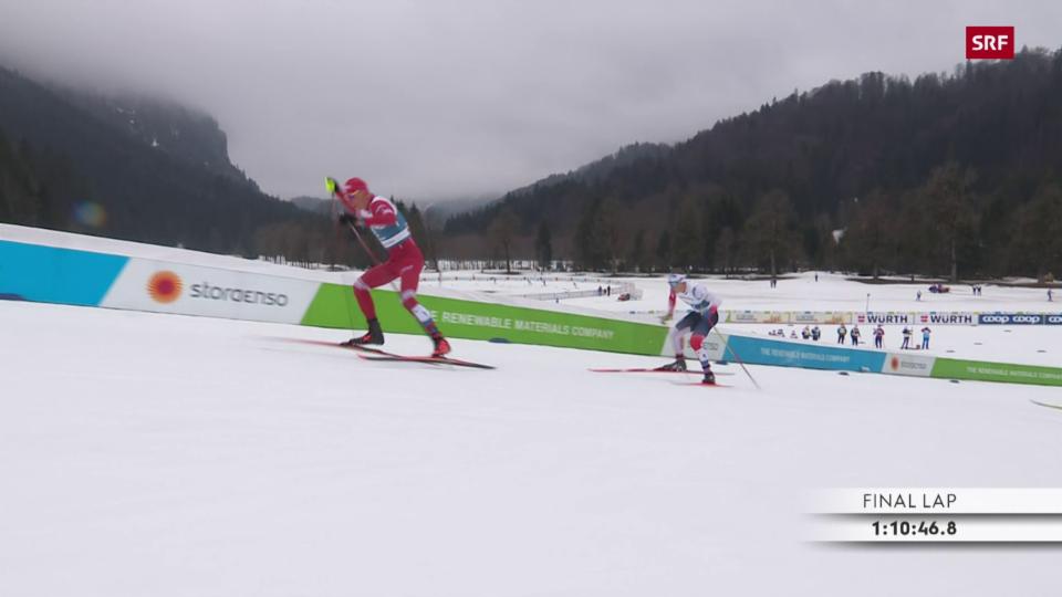 Bolschunow cun in sprint nar curt avant la fin