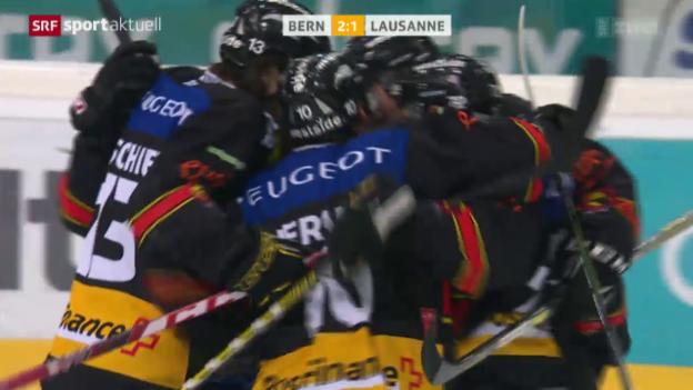 Video «Bern schlägt Lausanne und qualifiziert sich für die Playoffs» abspielen