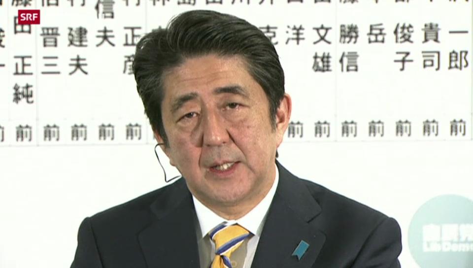 Erdrutschsieg für Shinzo Abe