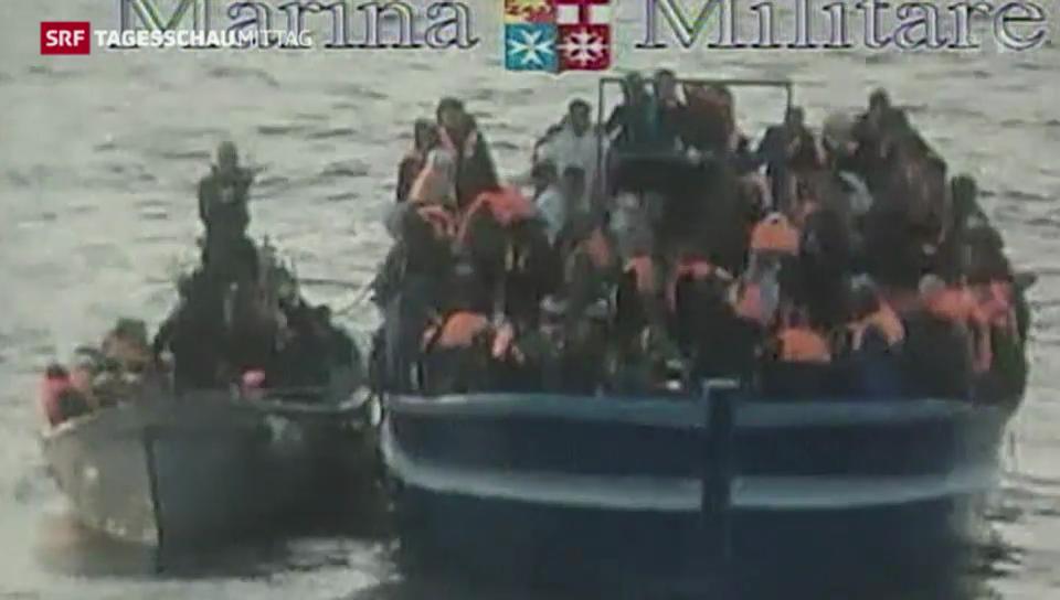 Italien greift afrikanische Flüchtlinge auf