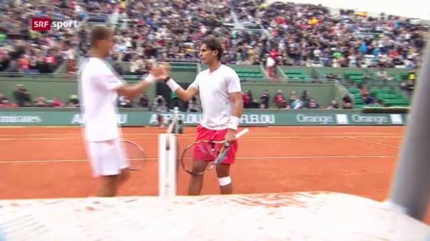 Video «French Open: Nadal - Klizan («sportaktuell»)» abspielen