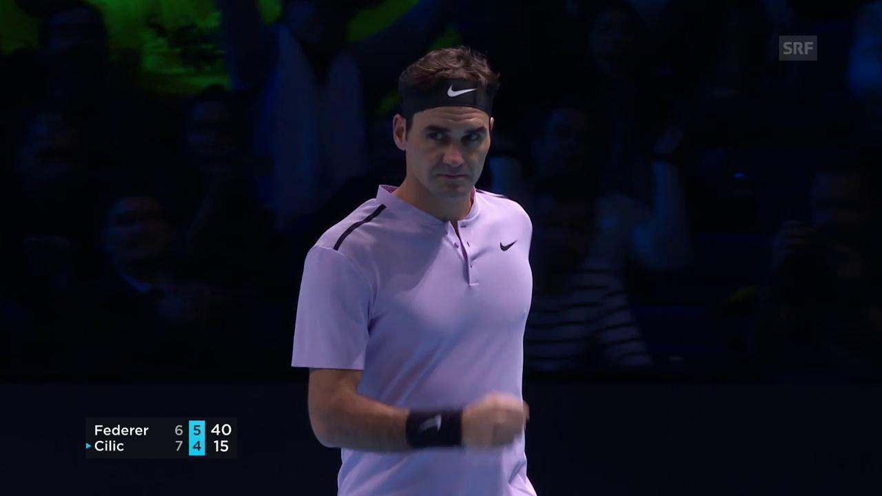 Live-Highlights Federer - Cilic