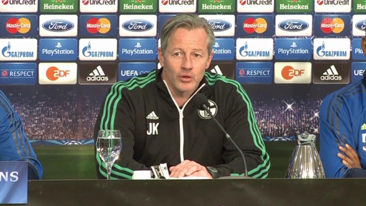 Schalke-Coach Keller über Gegner Real Madrid (SNTV)