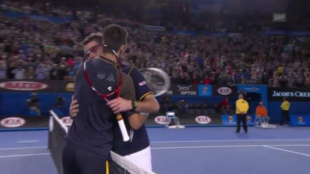 Video «Die Duelle zwischen Wawrinka und Djokovic» abspielen