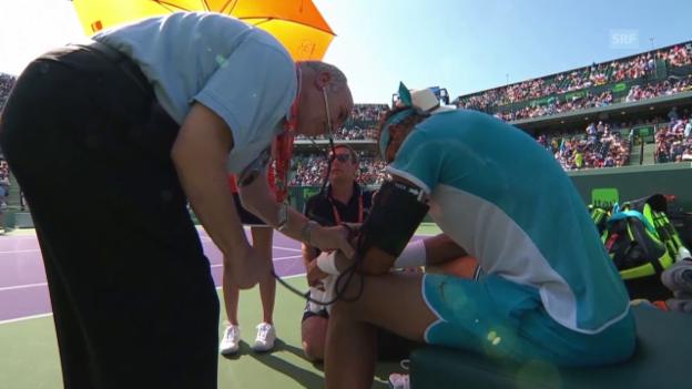 Video «Nadals Körper macht in Miami nicht mehr mit» abspielen