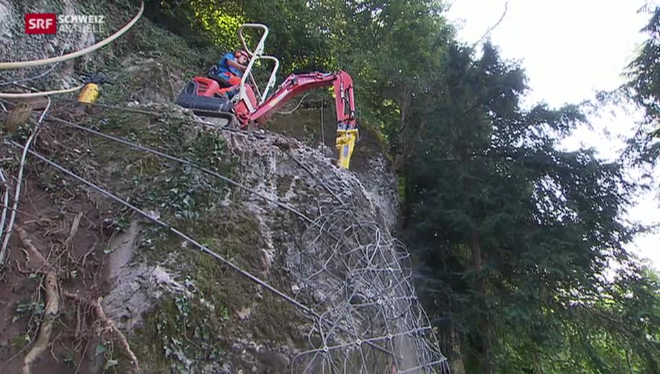 Gefährlicher Felsabbau