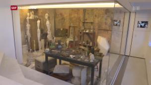 Video «Grosse Ehre für Giacometti in Paris» abspielen