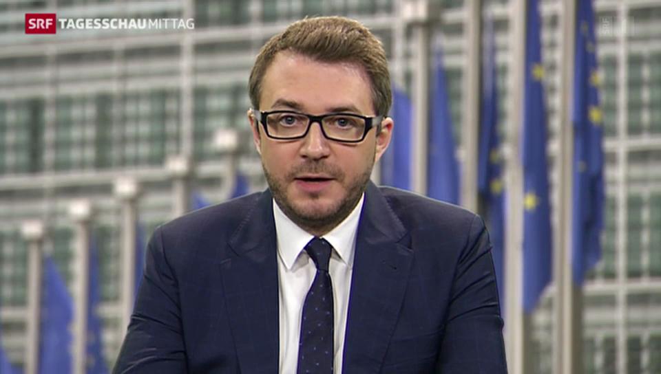SRF-Korrespondent Sebastian Ramspeck zu Juncker Plänen