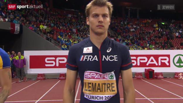 Video «Leichtathletik: EM 100-Meter-Final der Männer» abspielen