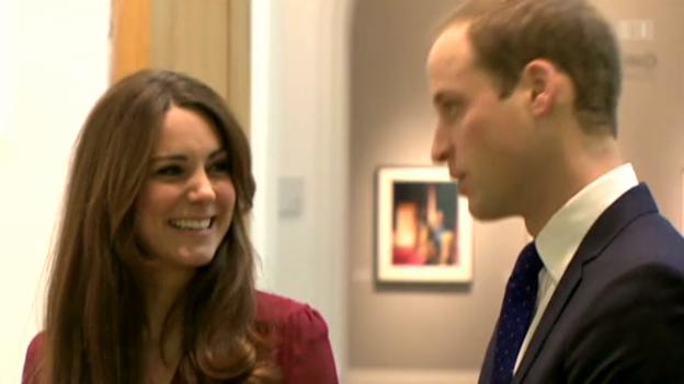 Video «Herzogin Catherine und ihr Babyglück» abspielen
