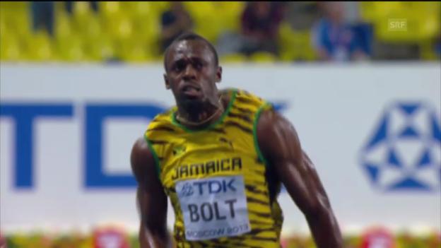Video «Leichtathletik-WM: Usain Bolt triumphiert über 100 m («sportlive»)» abspielen