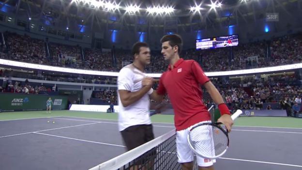 Video «Tennis: Djokovic - Tsonga: Die Highlights» abspielen