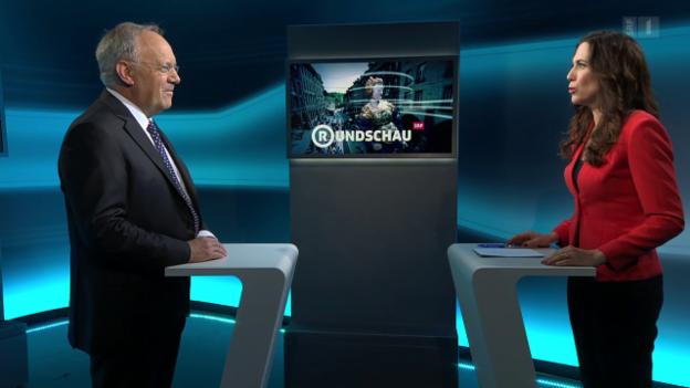 Video «Der Wirtschaftsminister an der «Rundschau»-Theke» abspielen
