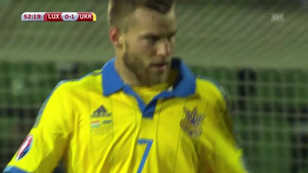 Video «Fussball: EM-Quali, Luxemburg-Ukraine» abspielen