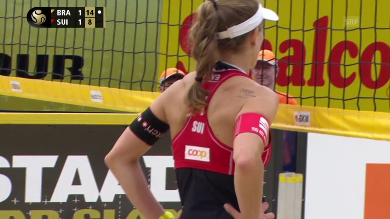 Beachvolley: Grand-Slam-Turnier in Gstaad, Highlights Heidrich/Zumkehr - Juliana/Antonelli