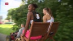 Video «Hürdenläuferinnen Harrison und Zbären am Kids Training in Langnau» abspielen