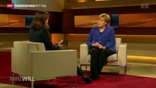 Video «Talkshow Auftritt von Angela Merkel» abspielen