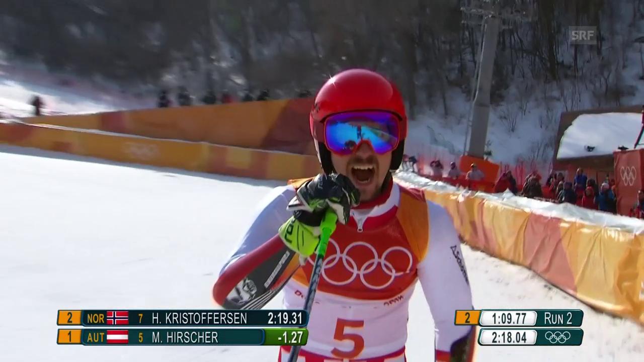 Hirscher gewinnt überlegen Olympiagold