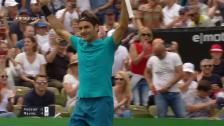 Link öffnet eine Lightbox. Video Live-Highlights Federer - Raonic abspielen