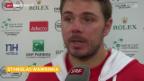 Video «Tennis: Davis Cup, Stimmen zum 2. Tag» abspielen