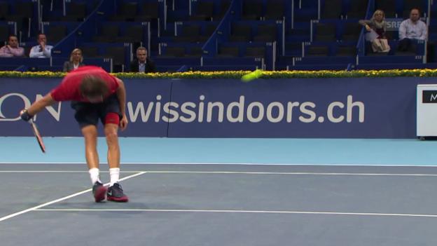 Video «Tennis: Swiss Indoors Basel 2012, Traumschlag Dimitrov» abspielen