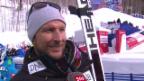 Video «Ski: WM, Aksel Svindal Interview nach 1. Training Abfahrt» abspielen