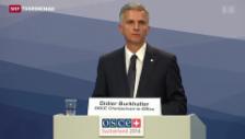 Video «Viel Lob für Didier Burkhalter» abspielen