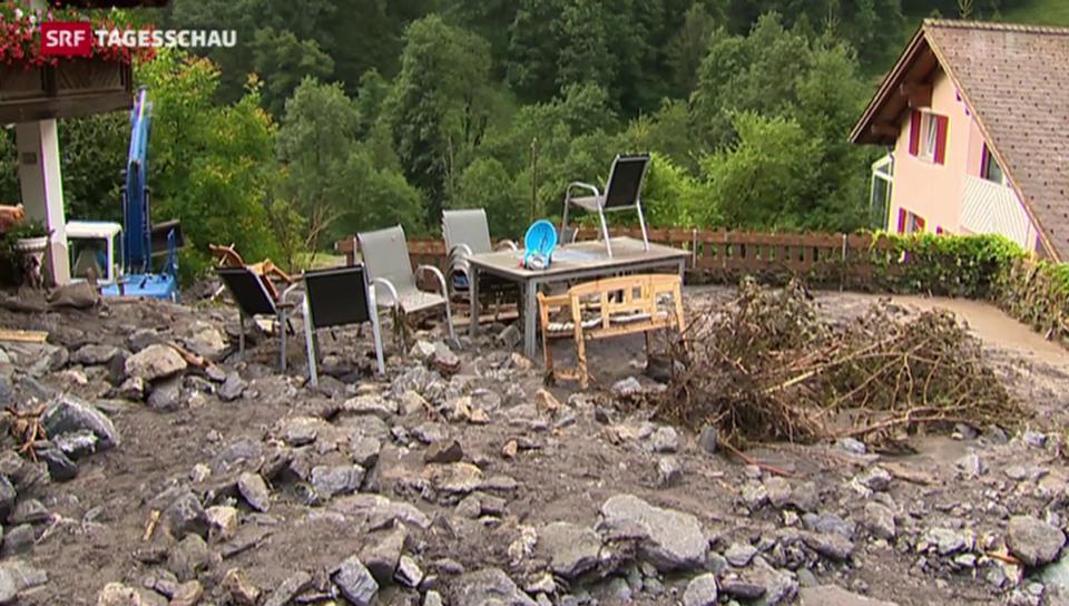 Gewitter verursacht Schäden in der Ostschweiz