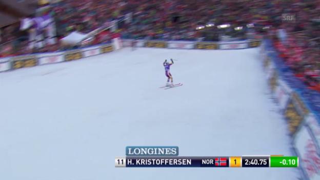 Video «Ski: RS Adelboden, 2. Lauf Kristoffersen» abspielen