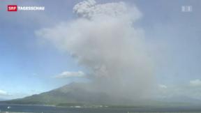Video «Vulkanausbruch in Japan» abspielen