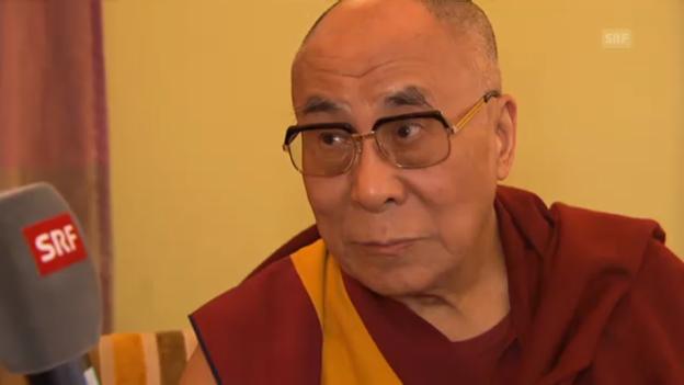 Video «Dalai Lama im Interview mit der Tagesschau» abspielen