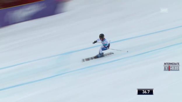 Video «Ski Alpin: Riesenslalom auf der Lenzerheide, Der 1. Lauf von Lara Gut («sportlive», 16.03.2014)» abspielen