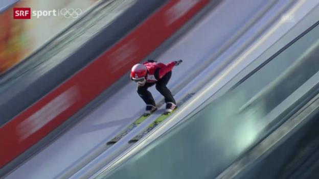 Video «Skispringen: Zweiter Trainingstag («sotschi aktuell», 7.2.2014)» abspielen