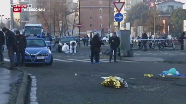 Video «Tatverdächtiger in Mailand erschossen» abspielen