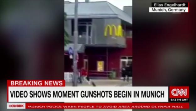 Video «Schiesserei vor McDonald's in München» abspielen