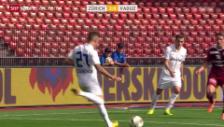 Video «Fussball: Schönbächler düpiert Vaduz-Torhüter Jehle» abspielen